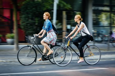 Cycling to work is one way to reduce your carbon footprint.