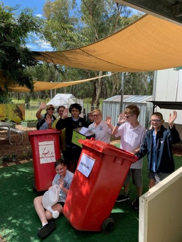 Coonabarabran High School's D7 support class has been nominated for the NSW Young Environmental Citizen of the Year award