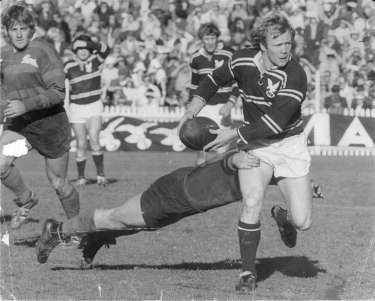 Glory days: Fulton in action for the Sea Eagles