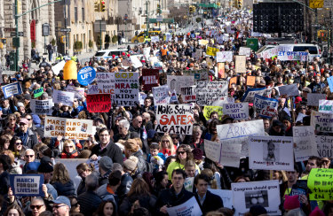 Thousands gathered in New York for the protest.