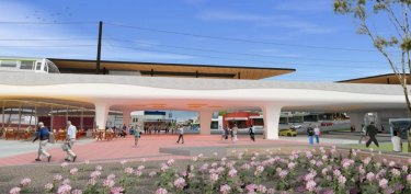 Artist's impression of the proposed Bayswater train station released in 2018.