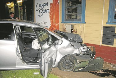 A Hong Kong tourist crashed into the front bar of the Port Campbell Hotel in 2011.