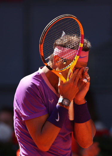 The reaction: Rafael Nadal.