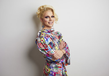 Courtney Act hosts the new series of <i>One Plus One</i>.