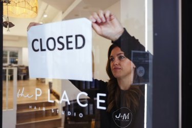 Louise Costi has, along with many small business owners, been forced to close the doors of her Cronulla hair studio.