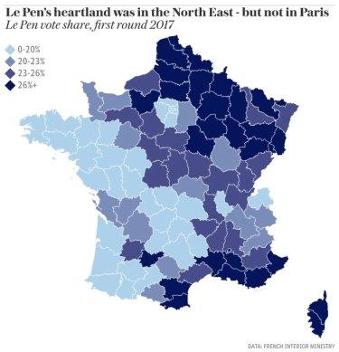 Marine Le Pen's heartland.