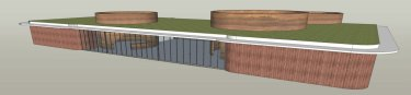 Design for the tourism building.