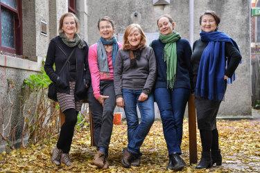 From left, director Jenny Kemp, with performers Margaret Mills, Julie Forsyth, Caroline Lee and Marta Kaczmarek.