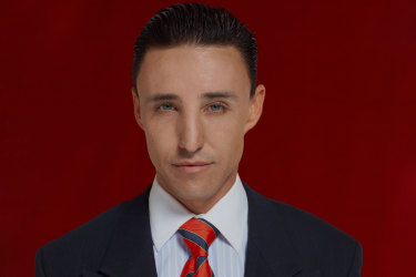 Ben Gerrard as the buffed and beautiful all-American psycho.