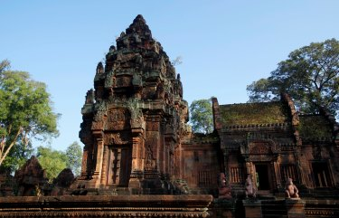 Banteay Srei, part of the Angkor wat temple complex, in Cambodia.