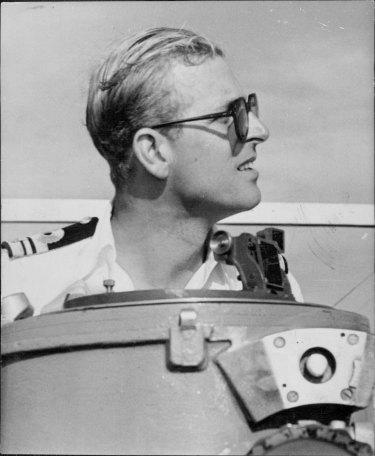 The Duke of Edinburgh on board HMS Magpie in 1951.