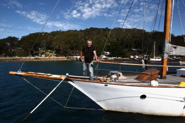 Michael Stephens and his ketch, Wicked Wench.