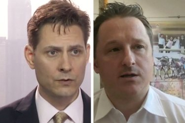 Detained in China: Canadian nationals Michael Kovrig and Michael Spavor. Photo: AP