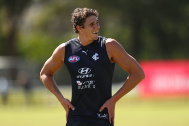 Charlie Curnow is on track to return in the AFL this season.