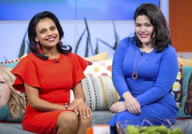 Miranda Tapsell and Nakkiah Lui in the final episode of Get Krack!n.