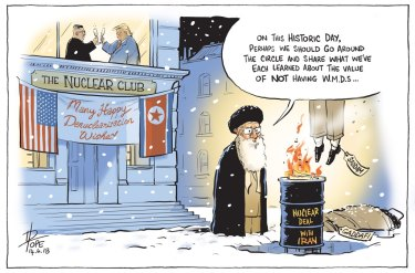 The Canberra Times editorial cartoon.