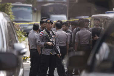 Police in Indonesia have beefed up security in preparation for Christmas and New Year celebrations.