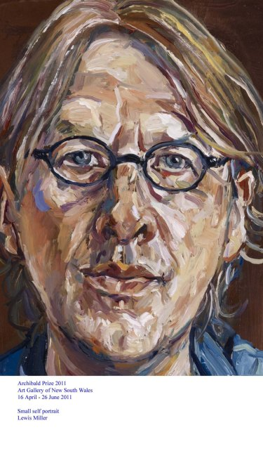 Lewis Miller's 'Small self portrait' was an Archibald prize contender in 2011.
