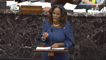 House impeachment manager Stacey Plaskett.
