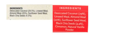 Sarah Wilson claims the ingredients list between No Added Sugar and I Quit Sugar products is very similar.