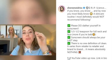 """Numerous doctors, like American dermatologist Dr Shereene Idriss, went on the offensive after Gwyneth Paltrow said she likes to apply sunscreen """"kind of on my nose and area where the sun really hits"""" in an April Vogue video."""