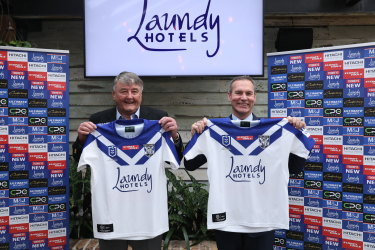 Arthur Laundy's Laundy Hotels became the Bulldogs' jersey sponsor last year.