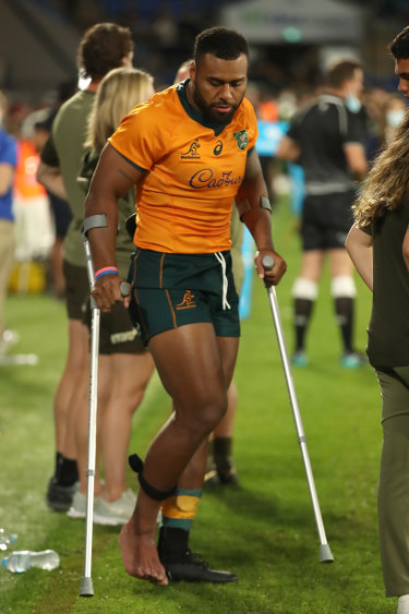 Samu Kerevi was a casualty of the Wallabies' fourth straight win on Saturday night.