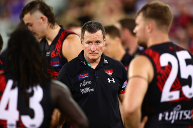 """Bombers coach John Worsfold says umpire's decision had a """"massive impact"""" on the outcome of the game."""