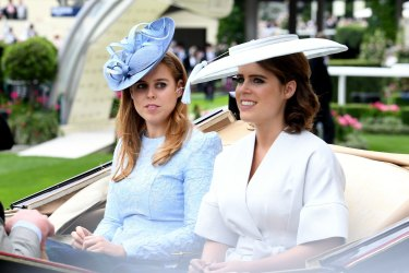Princess Beatrice (left) and Eugenie (right) during day one of Royal Ascot.
