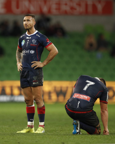 Rebel with a lost cause: Quade Cooper reflects on where it all went wrong on Friday night in Melbourne.