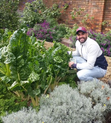 Omar Chahrouk is the driving force behind a successful high school gardening initiative.