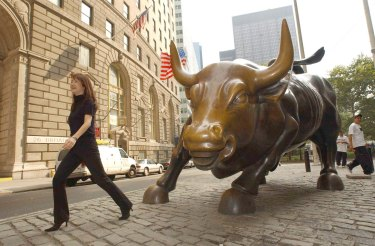 A 3 per cent fall on Wall Street can change the mood and turn the herd.