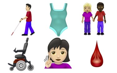 Some of the new emojis available.