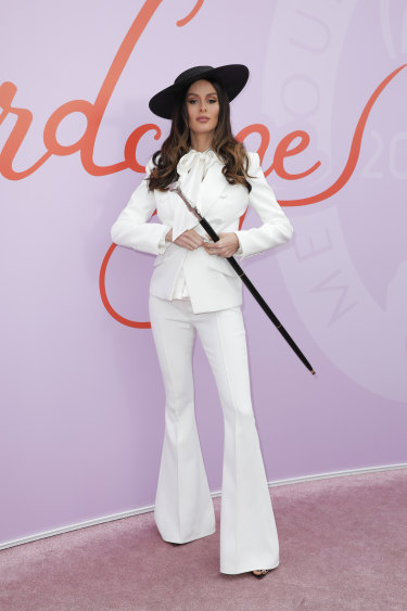 Drama queen ... Nicole Trunfio arrives at the Birdcage.