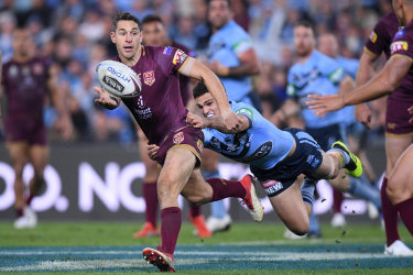 Leading from the front: Billy Slater will be captain for the Maroons in his Origin farewell.