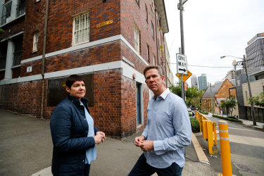 Jane Anderson and Rodney Hanratty have expressed concern about plans to demolish a heritage-listed building on the SCEGGS Darlinghurst campus.