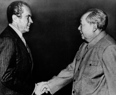 The US engagement policy on China was born in 1972, when Richard Nixon met Mao Zedong and proposed ending their decades-long hostility.