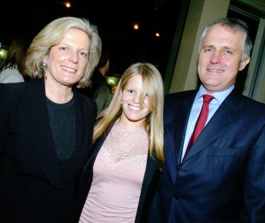 Lucy, Daisy, and Malcolm Turnbull in 2004, the 'year of the great branch stack.'