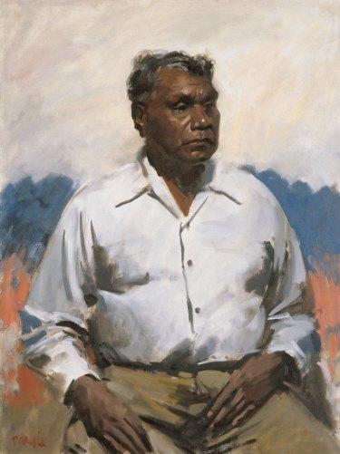 The Archibald Prize 1956 winner, William Dargie's <i>Mr Albert Namatjira</i>.