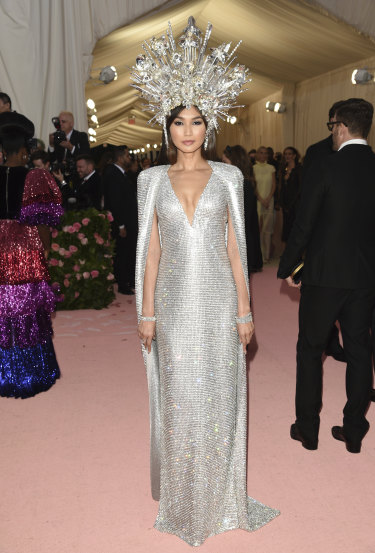 "Gemma Chan attends The Metropolitan Museum of Art's Costume Institute benefit gala celebrating the opening of the ""Camp: Notes on Fashion"" exhibition on Monday, May 6, 2019, in New York. (Photo by Evan Agostini/Invision/AP)"