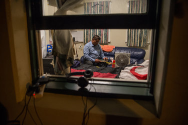 David Ututaonga in his transition housing.