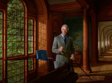 Ralph Heimans' portrait of the Prince of Wales was commissioned by Anthony Pratt.