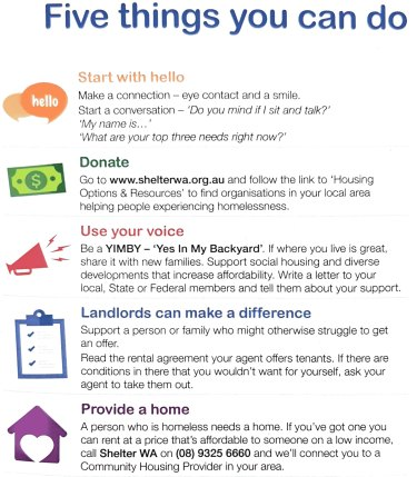 Ways to get involved this homelessness week.