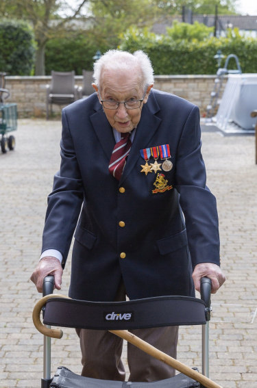 Captain Tom Moore, a 99-year-old war veteran, has raised more than £7 million pounds for the NHS in less than a week.