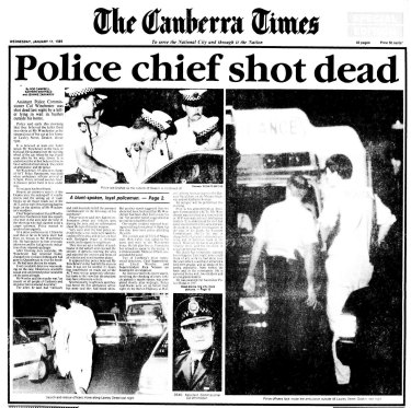 The front page of The Canberra Times for January 11, 1989.