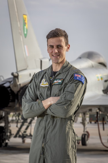 Flight Lieutenant James Clarke from the Royal Australian Air Force is on a three-year exchange program in the UK and is currently based with 3(F) Squadron Typhoon at Royal Air Force Coningsby Lincolnshire.