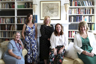 The women behind the push to make a musuem in Lemnos to honour Australian World War 1 nurses, from L to R- Elizabeth Kaydos, Vanessa Weedon, Tina Koutsogiannis, Cheryl Ward, and Sue Hodges, in Paddington, this week.