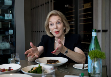 ABC chairman Ita Buttrose at Flying Fish restaurant.