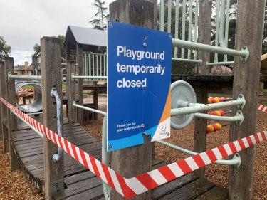 Playgrounds across Melbourne have been closed.