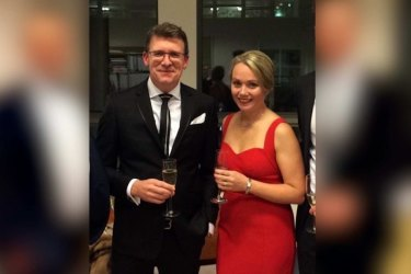 Federal Population Minister Alan Tudge with his staffer Rachelle Miller. Ms Miller has revealed they were having an affair.